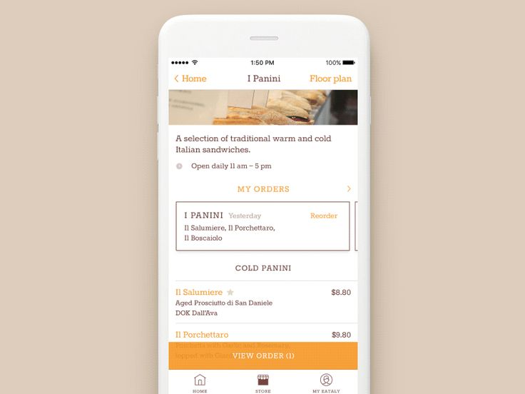 A UI concept for a food ordering app we worked on last year.  We're available for new projects: hello@clay.global