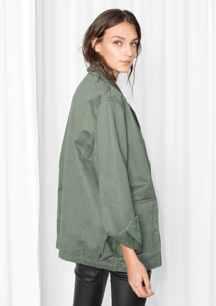 & Other Stories image 3 of Military Jacket in Khaki Green