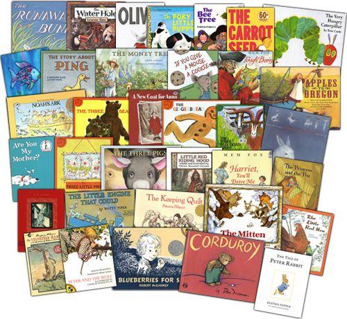 Kindergarten reading list.