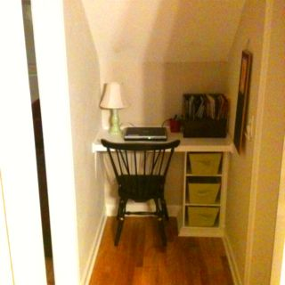 Under the stairs nook.... I built it completely by myself!!!!