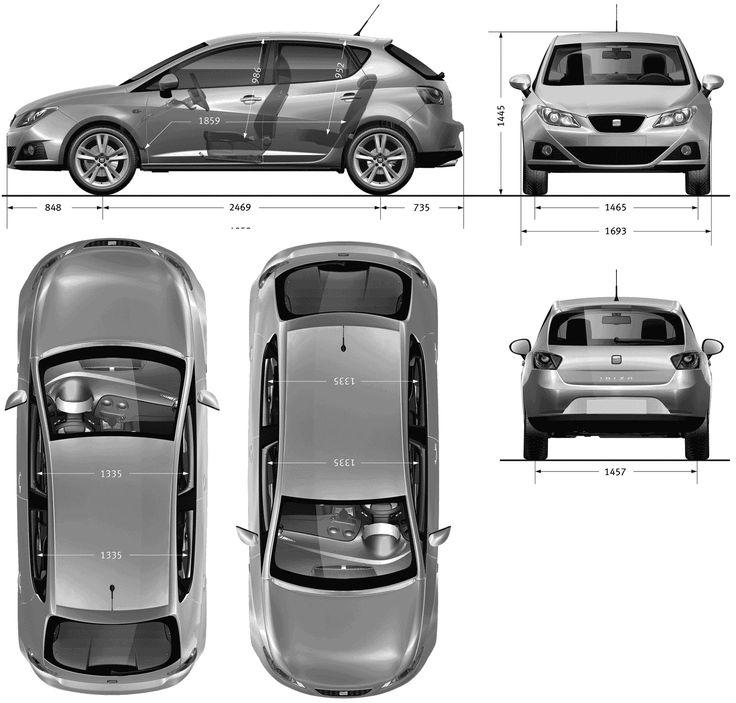 SEAT Ibiza 2009 blueprint