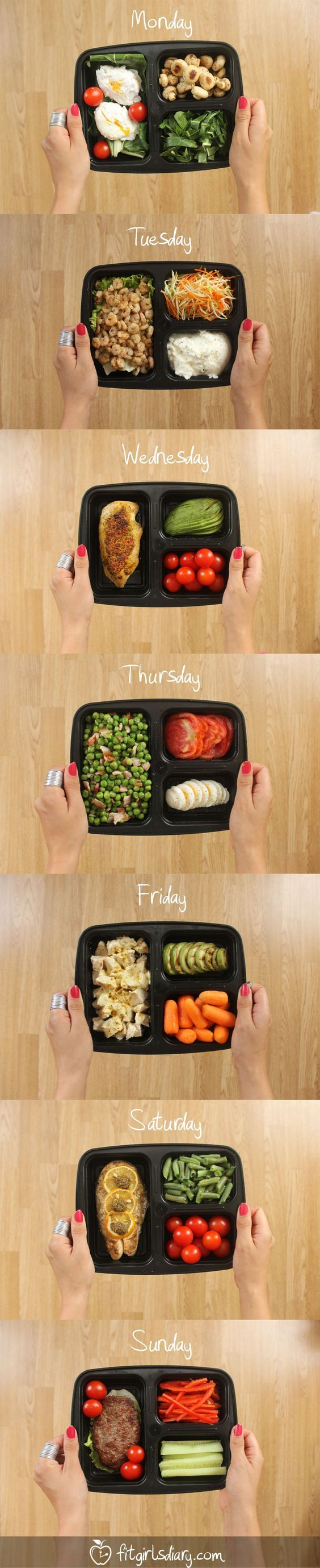 :) 7 Days Of Healthy Meal Prep Ideas – Ready To Eat Meals and Protein On The Go Recipes: | Más en https://lomejordelaweb.