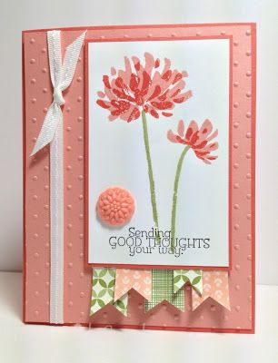 Too Kind stamp set, In Color Boutique Button, Birthday Essentials DSP, Gingham Garden DSP   by Stamp With Sandy