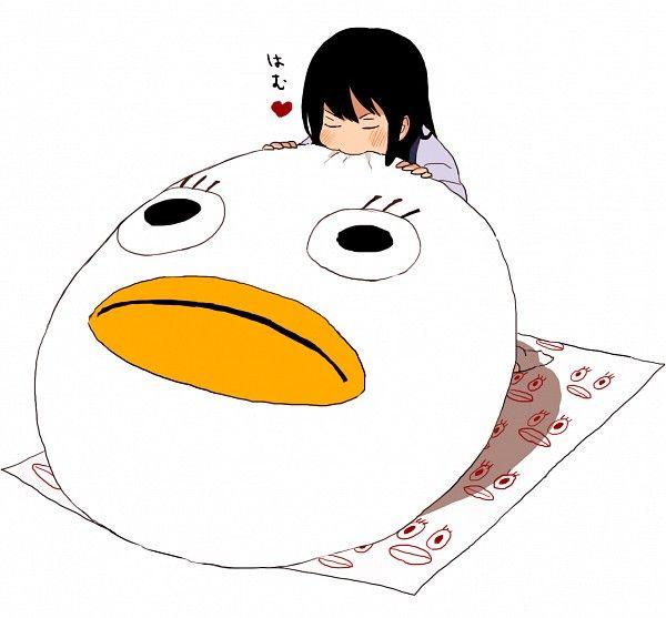 Gintama ~~ Chibi Katsura has a great big Mochi.