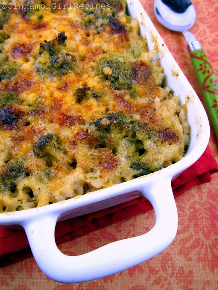 Broccoli Cheese Rice Casserole   meals to create   Pinterest