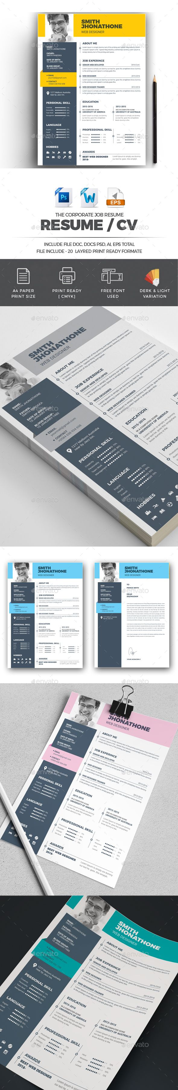 Resume 1483 best images on Pinterest