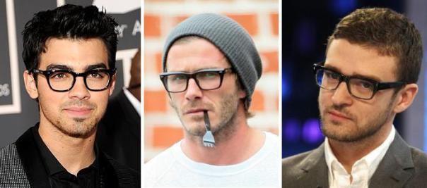 The Horn-Rimmed Eyeglasses - Joe Jonas, David Beckham, Justin Timberlake