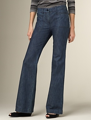 heritage fit slim and flare jean