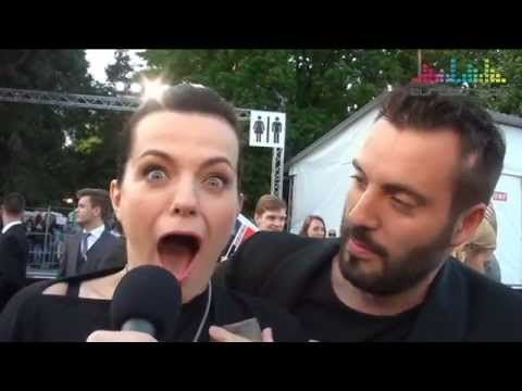 Marta Jandová & Václav Noid Bárta on red carpet. Eurovision 2015 Czech Republic Hope Never Dies