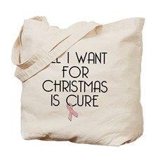 CHRISTMAS WISH - PINK RIBBON Tote Bag
