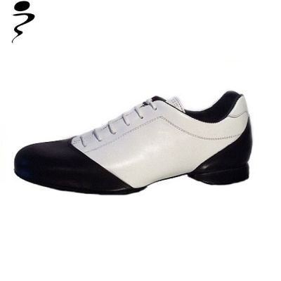 Tango sneakers in black and white leather