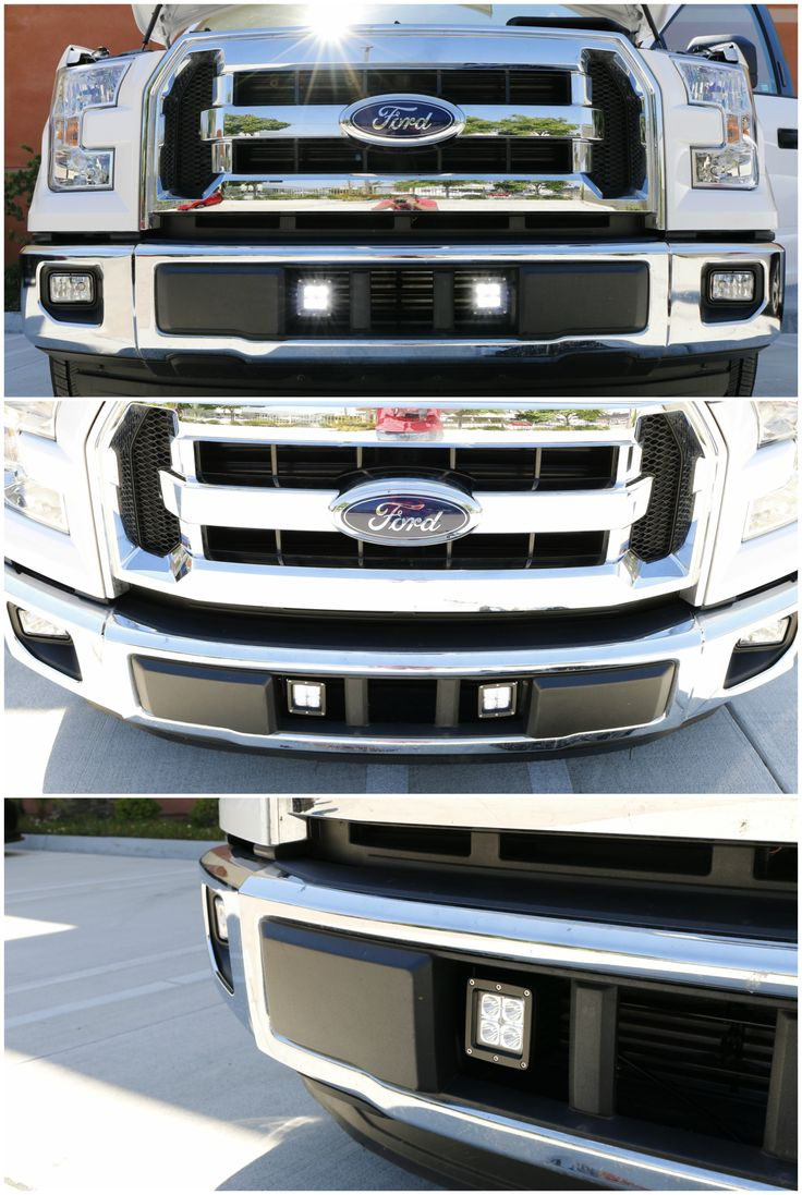 Led Pod Light Fog Lamp Kit For 2015 Up Ford F150 Xlt Lariat Or Limited 2 20w Cree Led Cubes Lower Bumper Grille Area Mounting Brackets Wiring Ford F150 Ford F150