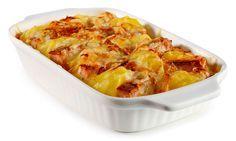Kartoffel Gratin mit Leber Käse Rezept