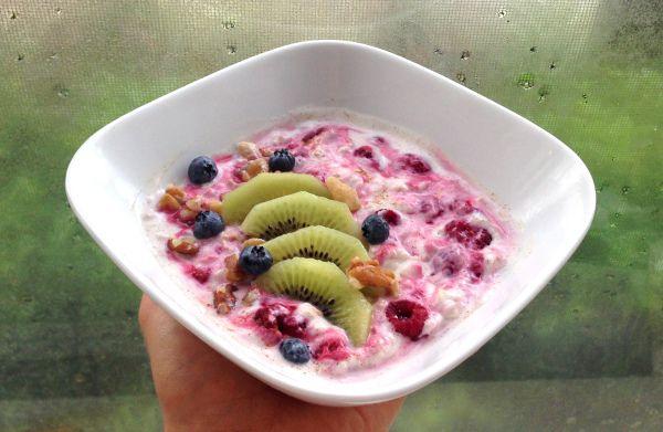 Rasberry overnight oats