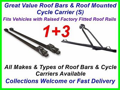 Roof bars & cycle #carrier #package deal roof rack bike fits audi a4 #avant 00 ,  View more on the LINK: 	http://www.zeppy.io/product/gb/2/381144497989/