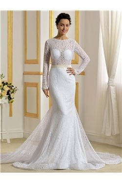 Scoop Chapel Floor-Length Garden/Outdoor Backless Hall Hourglass Elegant & Luxurious Wedding Dress
