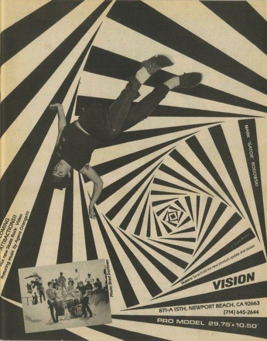 Vision Skateboards - Gator Model Ad (1984)