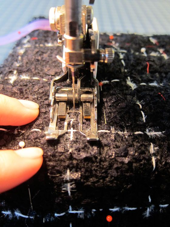 Frabjous Couture: Bouclé, Charmeuse and Quilting à la Chanel | Part 3  really good blog! lots of helpful tips