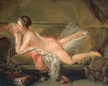 Portrait of Marie-Louis O'Murphy (Nude on a Sofa) - Francois Boucher