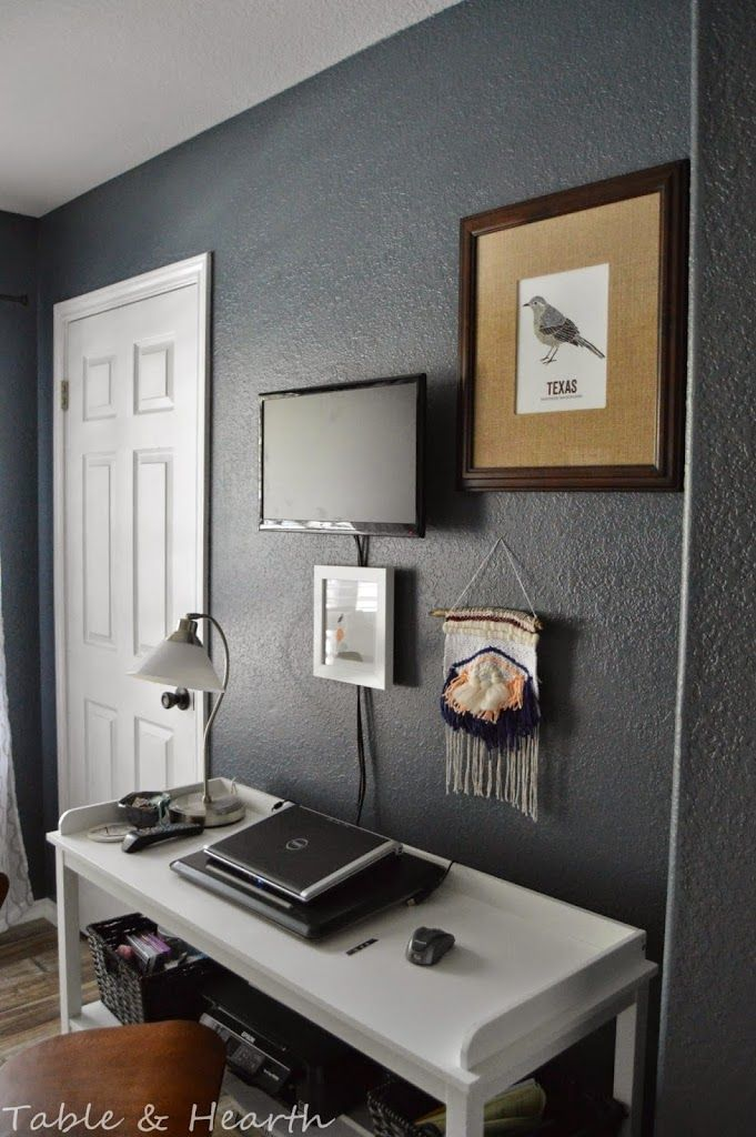 Master Bedroom Grey Accent Wall