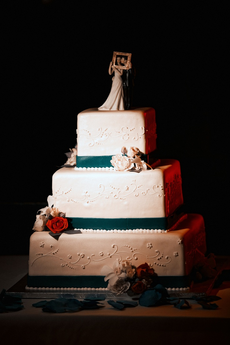 wedding cake san jose san jose sharks colors wedding cake teal orange white 23803