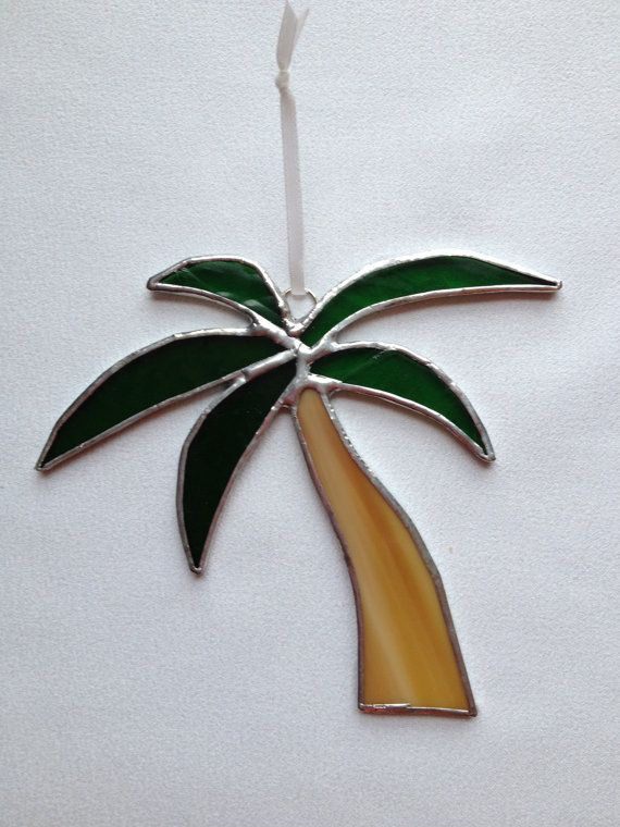 Stained Glass Christmas Ornament: Palm Tree by Mama Agee on Etsy, $7.50