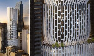 Zaha Hadid Tower, Collins St Melbourne. 54 Storey, 420 Apartment building by LandDream