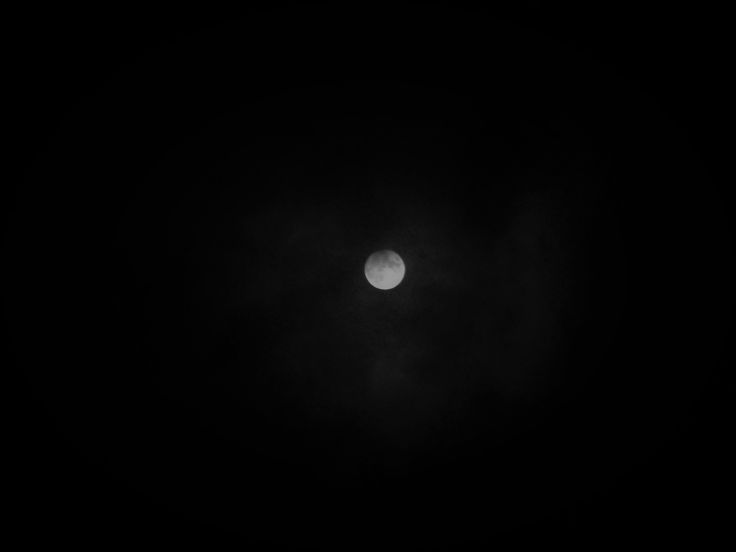 Edit of the partial lunar eclipse into black and white, and darkened to show the eclipse better Feb 2017