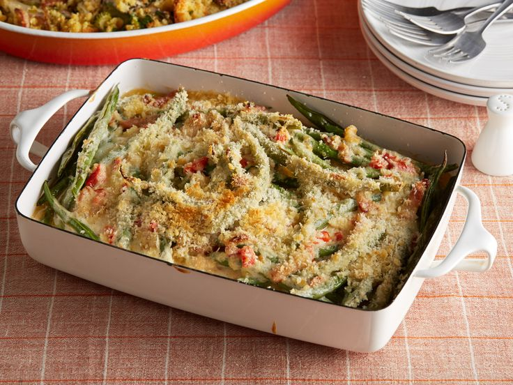 Green Bean Casserole : Bacon and grated cheddar give Ree's traditional casserole a decadent upgrade that's ideal for a celebration.
