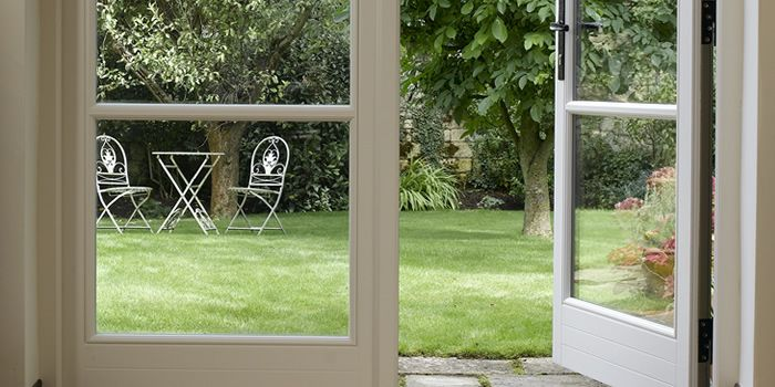 Wooden French doors for garden rooms, orangeries and conservatories