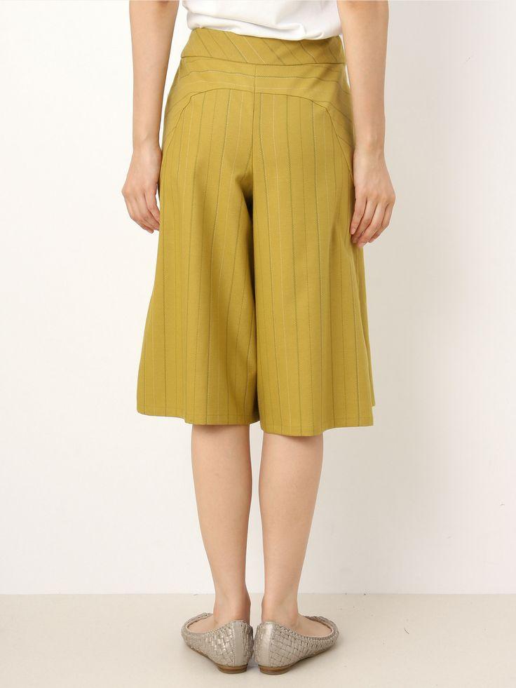 Striped Wrap Gaucho Pants   Jocomomola de Sybilla   Outlet Mail Order (Outlet Online Shop)   【Official】 Itkin Outlet