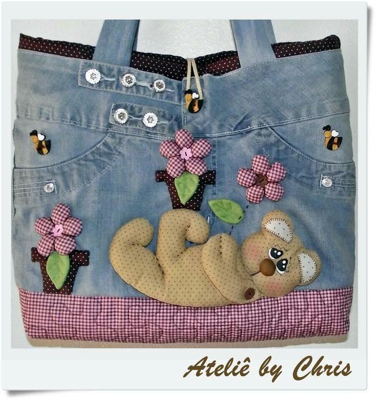 : A Mini-Saia Jeans, Ideas For, Fun Bags, Calça Jeans, Bolsos Reciclados, Bolsas Bug-Out, Bolsas Nets, Bolsas Ems Jeans, Sewing Bags