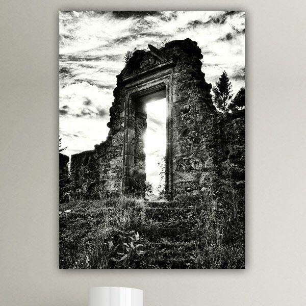 Πίνακας σε καμβά κατεστραμένη πόρτα