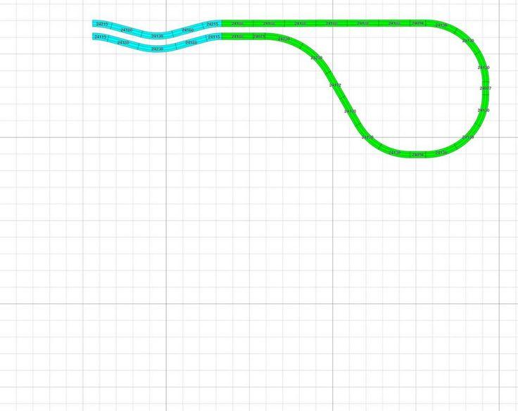 Märklin Gleisplan H0 in L-Form - H0 Modelleisenbahn