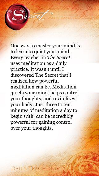 Meditation is so powerful