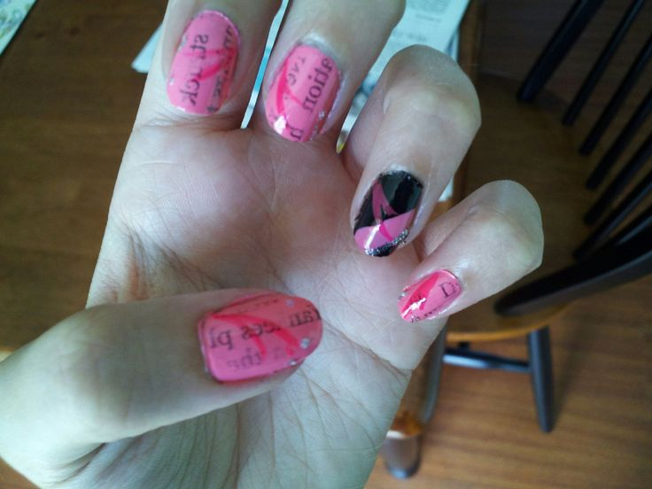 More newsprint nails. I'll have to do these again sometime.