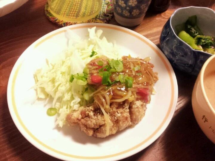 唐揚げ fried chicken