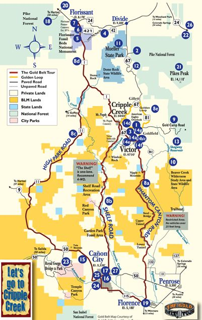 Maps of Cripple Creek | Cripple Creek Colorado