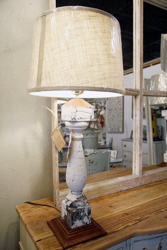 Architectural Salvage Antique Heart Pine Rustic Lamp