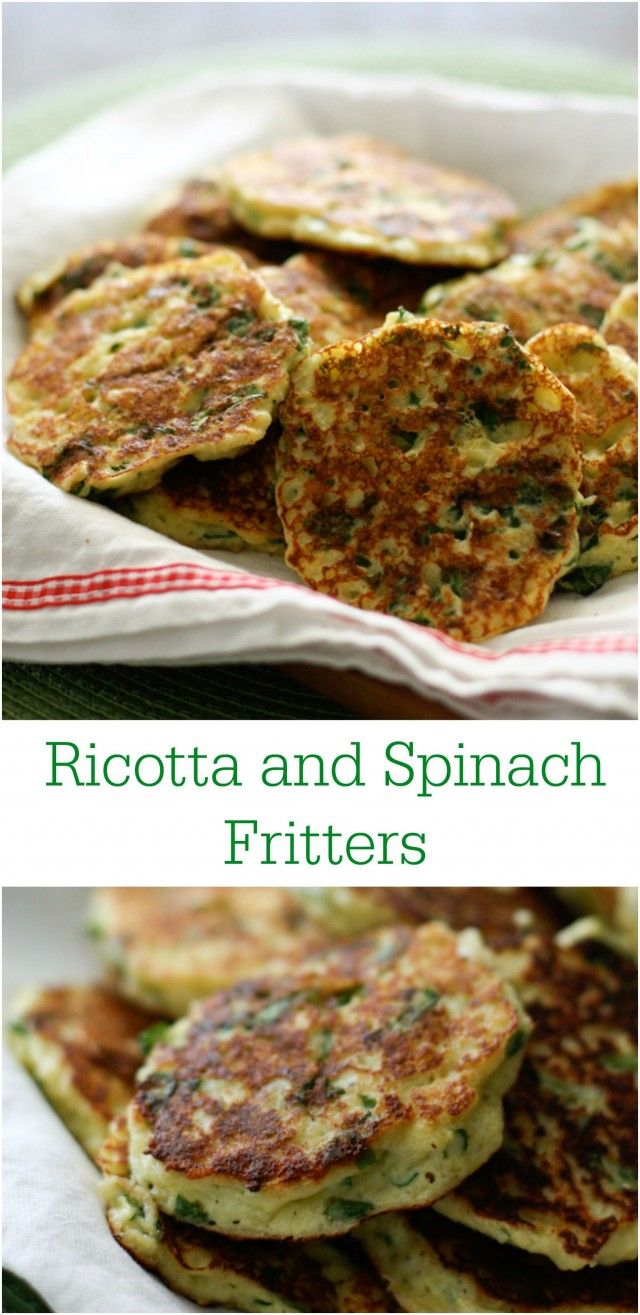 Ricotta and Spinach Fritters - cheesy and full of protein , great snacking for the whole family