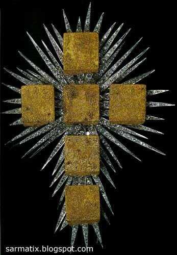 The Gold Cube Cross - jewelry by Salvador Dali, Figueres, Spain.