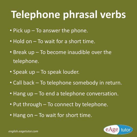 Forum | ________ Learn English | Fluent LandTelephone Phrasal Verbs | Fluent Land