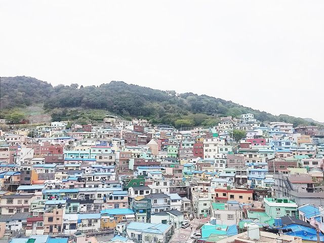 Look at that colorful buildings with mountain as their background.   #Gamcheon #Busan #Southkorea