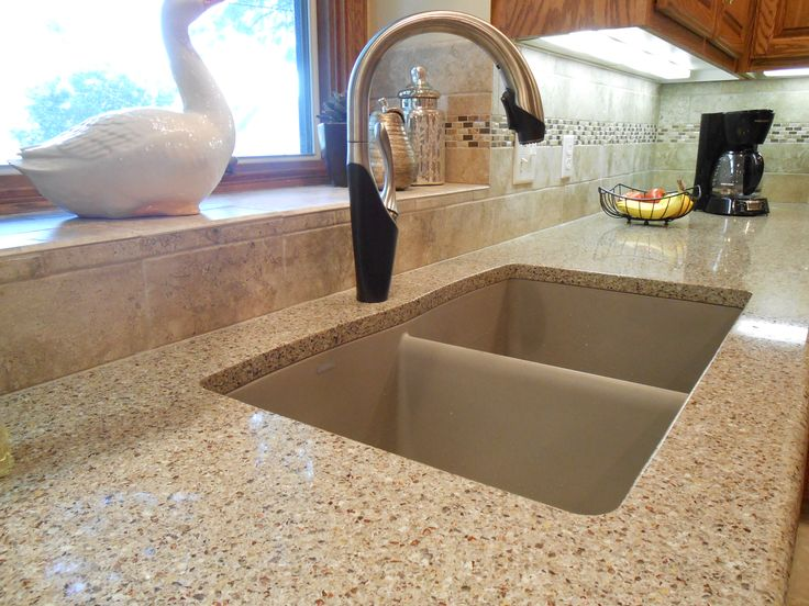 Amazing Quartz Undermount Kitchen Sinks Part - 4: #Kitchen #Remodel Includes Samsung Radianz #quartz #countertop With A  #Blancodiamond Undermount Sink. And American Olean 4x8 #porcelain #tile  Backsu2026