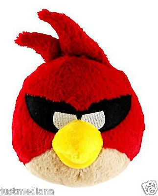Angry Birds Space 8-Inch Plush Toy Red Bird with Sound Officially Licensed - 1+