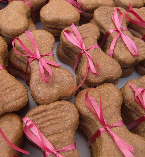 Peanut butter and sweet potato dog cookies!