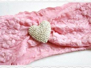 Allure Dezigns baby Girl Turban style headbands with diamonte sparke heart