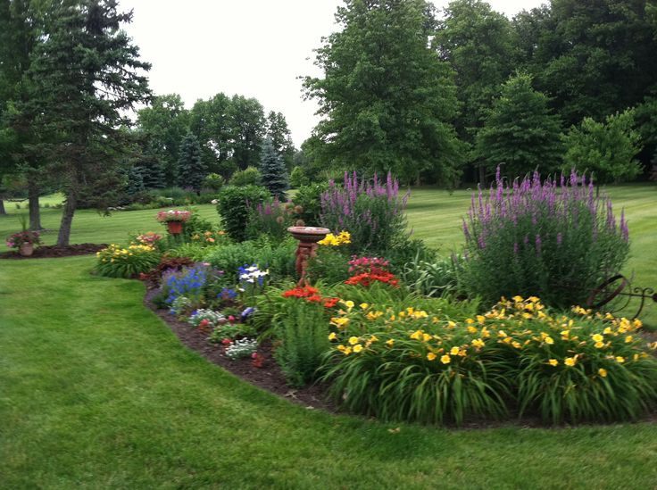 25 best ideas about perennial gardens on pinterest for Sunny landscape designs