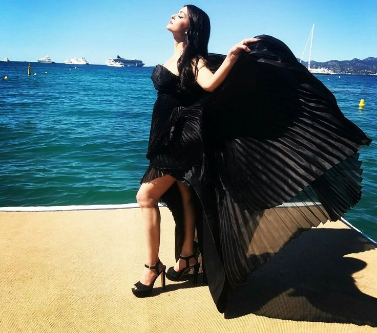 Beauty queen Aishwarya Rai at Cannes 2017.