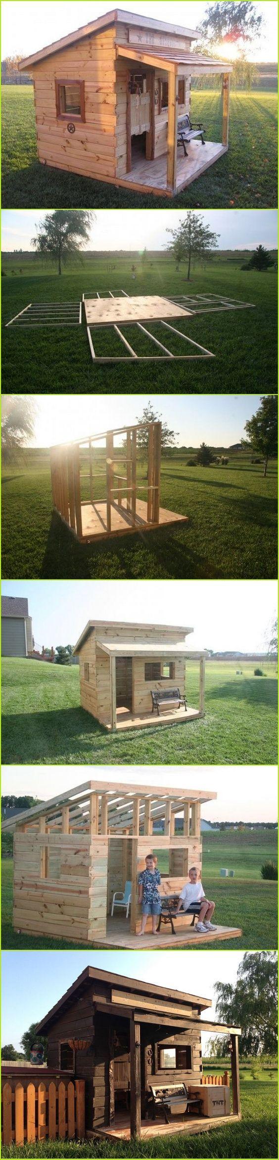 Petite cabane+petite terrasse couverte